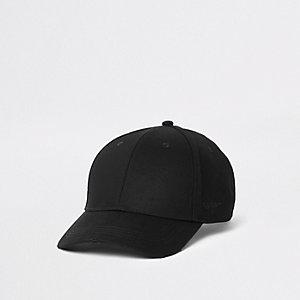 Casquette de baseball rayée noire à bande