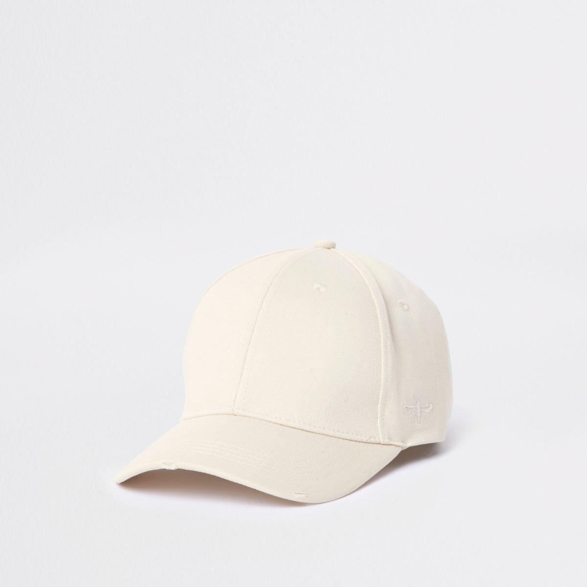 Ecru wasp embroidered baseball cap