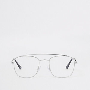 Silver tone Jeepers Peepers aviator glasses