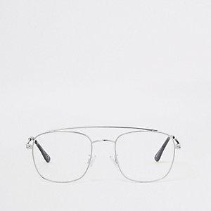 Jeepers Peepers – Silberfarbene Pilotensonnenbrille