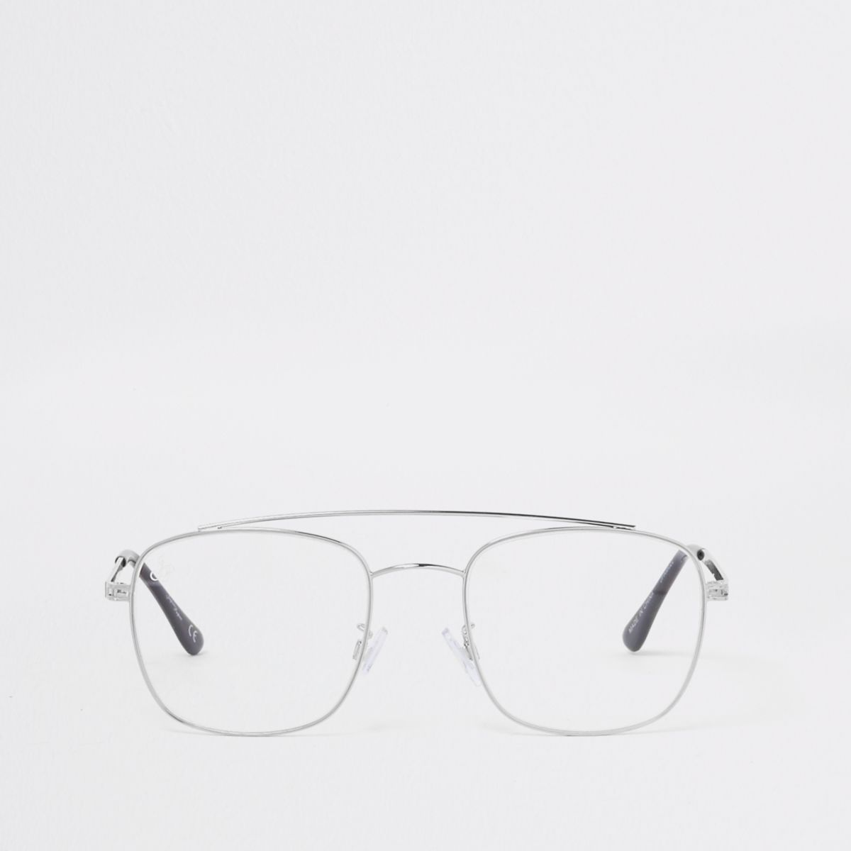 Jeepers Peepers silver tone aviator glasses