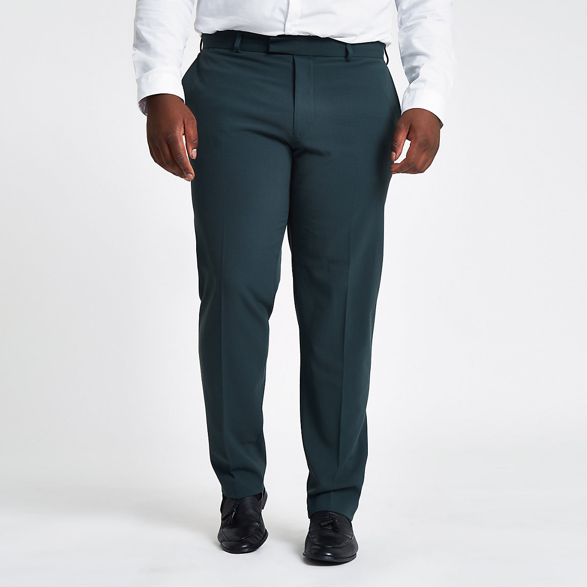 Big and Tall – Pantalon de costume slim vert