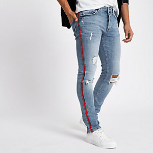 Sid – Hellblaue Skinny Jeans im Used Look
