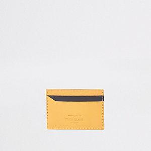 Porte-cartes jaune et noir