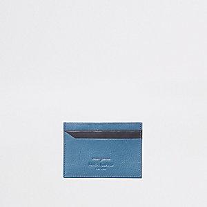 Porte-cartes bleu marine et noir