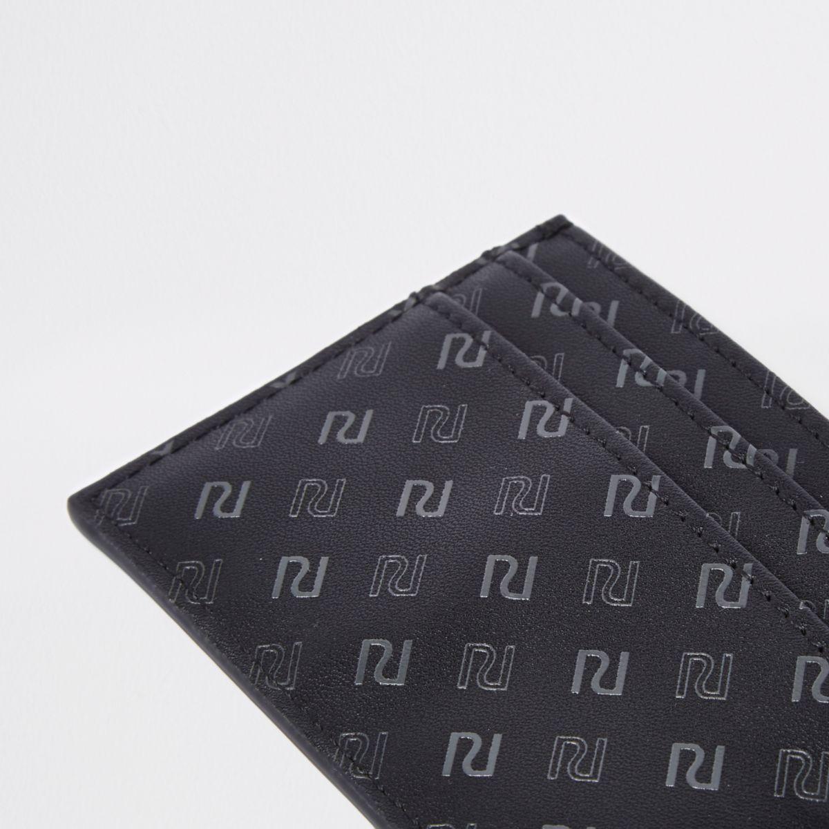 black ri monogram card holder wallets accessories men