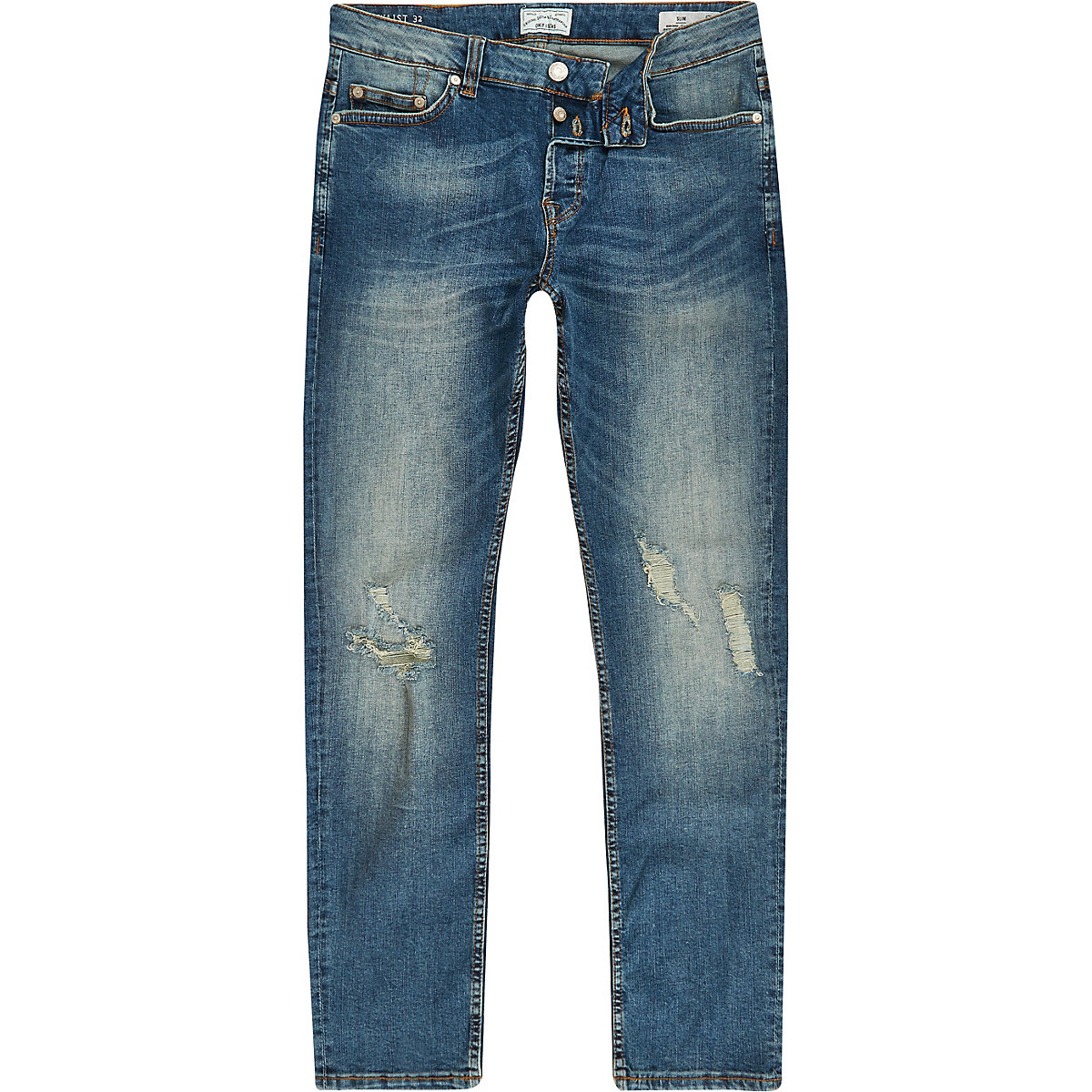 Only & Sons blue slim fit ripped jeans