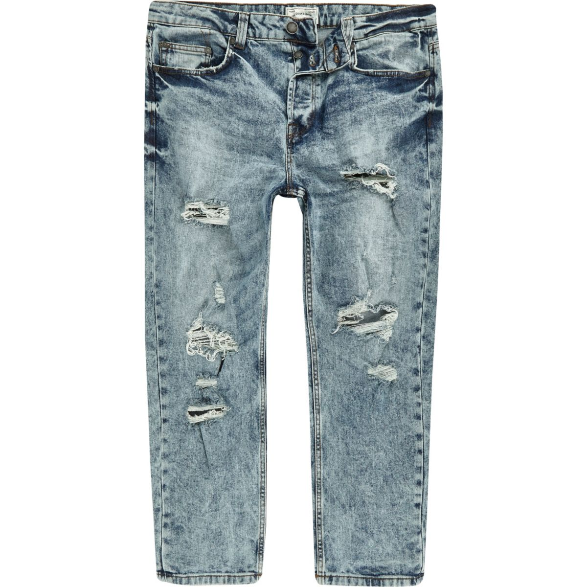 Only & Sons blue rip cropped jeans