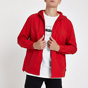Only & Sons red hooded jacket