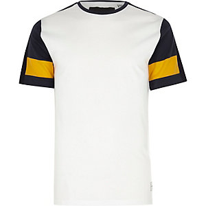 Only & Sons white raglan T-shirt