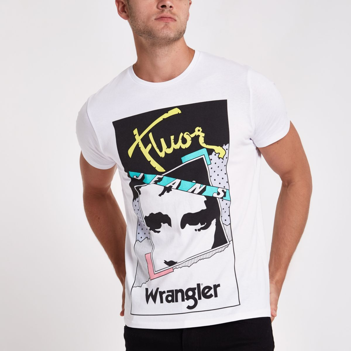 White Wrangler graphics T-shirt