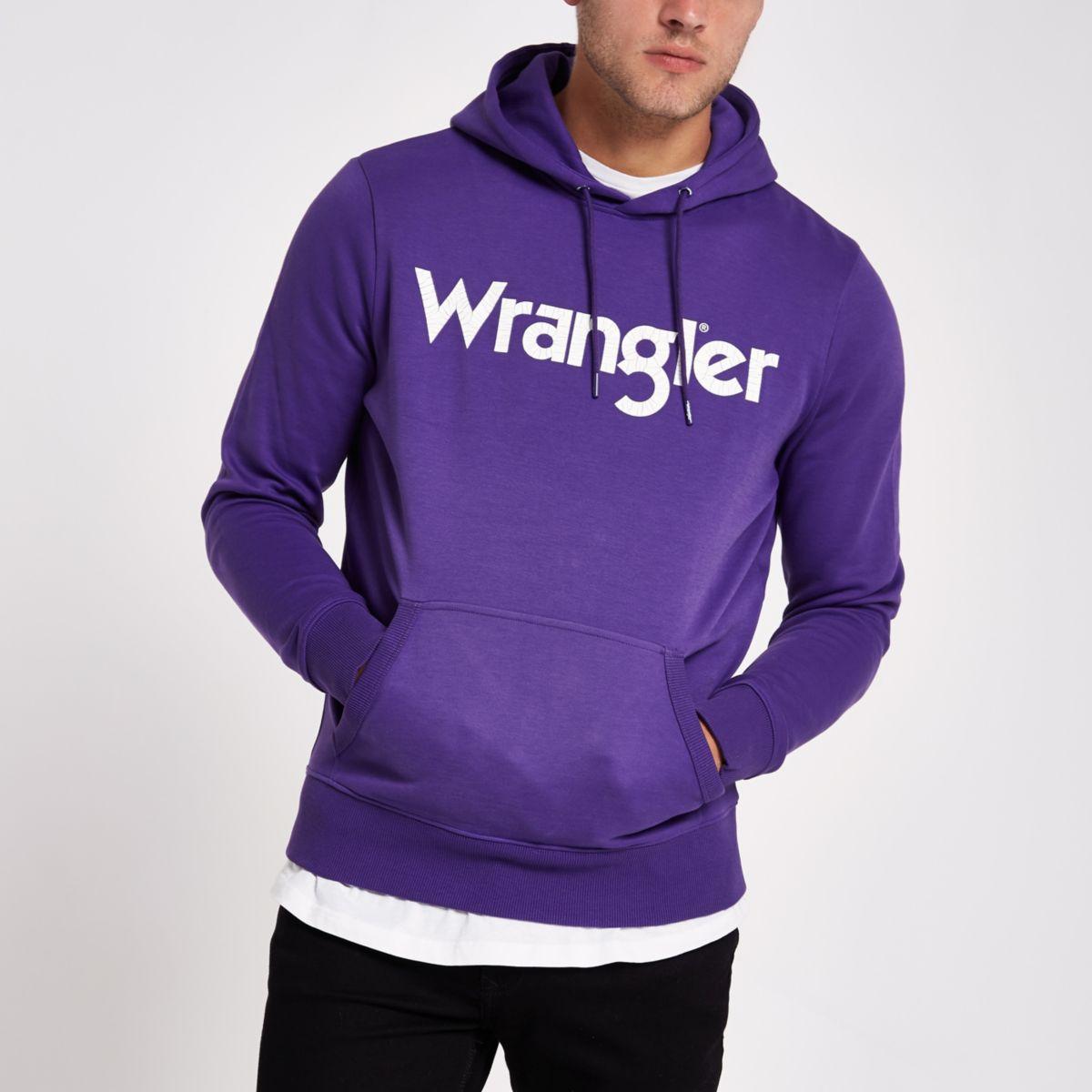 Wrangler purple hoodie