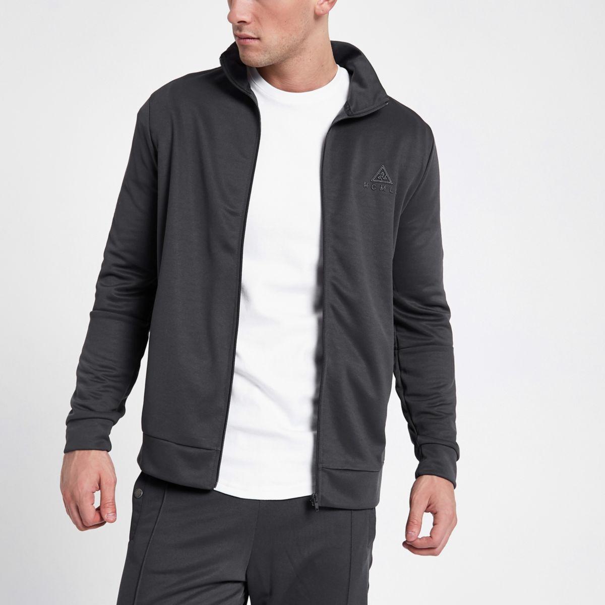 Concept grey tape side jacket