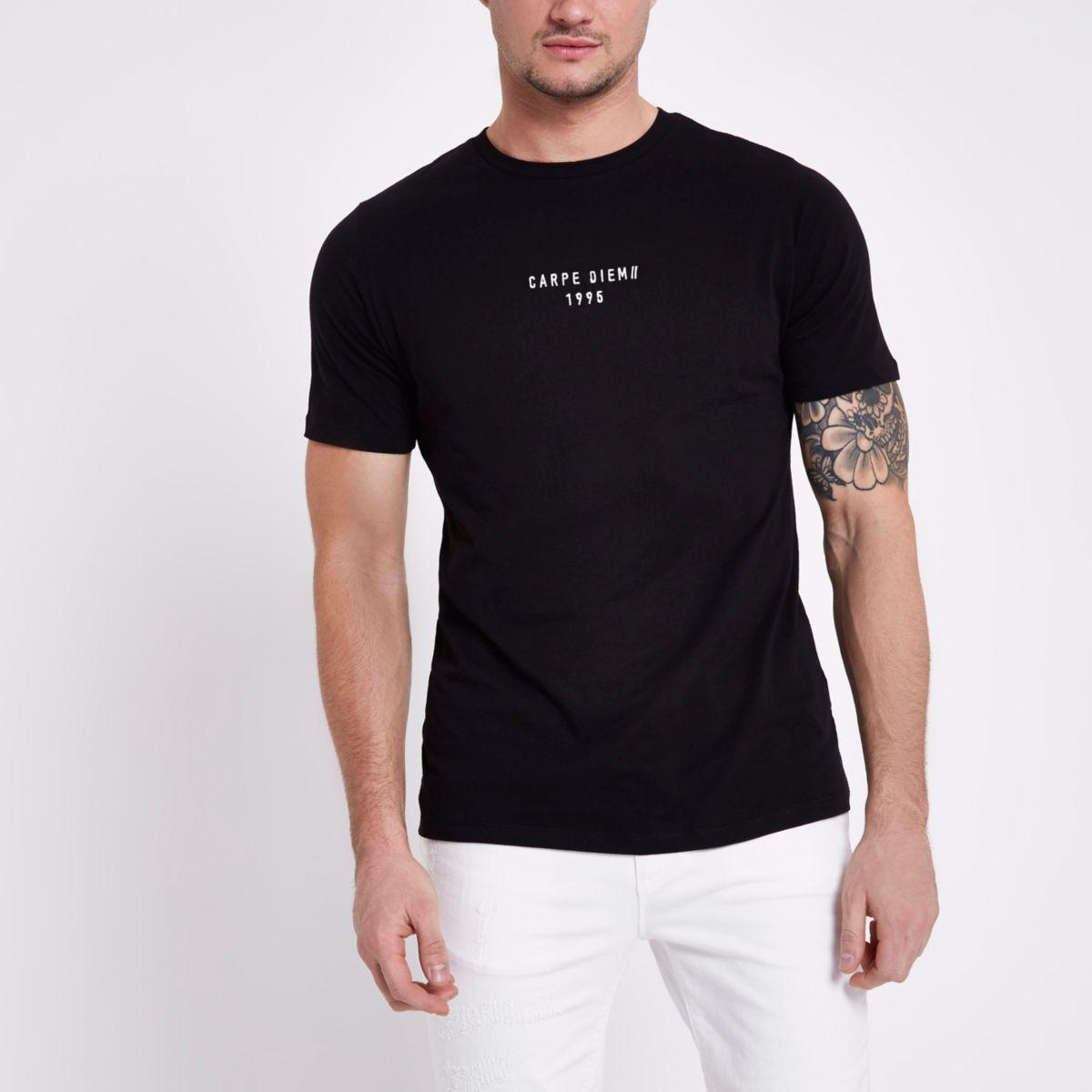 Black Carpe Diem' slim fit T-shirt