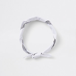 White knot bandana