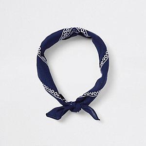 Navy knot bandana