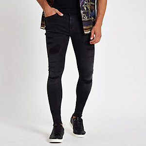 Ollie – Schwarze Super Skinny Spray-on-Jeans