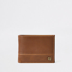 Braune, perforierte Geldbörse