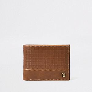 Bruine portemonnee met perforaties