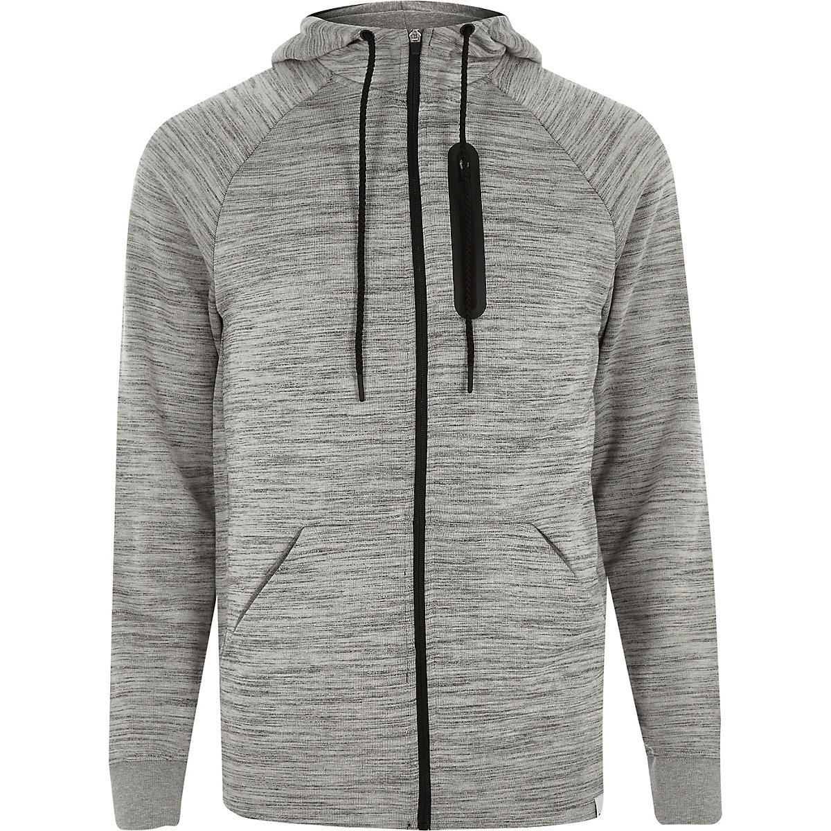 Only & Sons light grey zip up hoodie