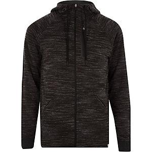 Only & Sons – Sweat à capuche gris zippé