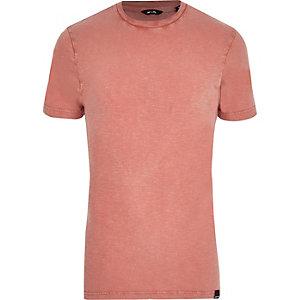 Only & Sons – Pinkes, kurzärmliges T-Shirt