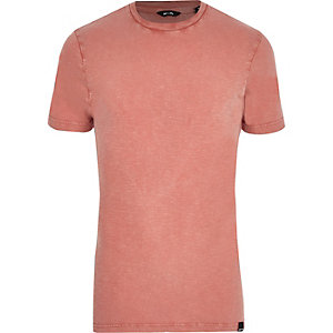 Only & Sons pink short sleeve T-shirt