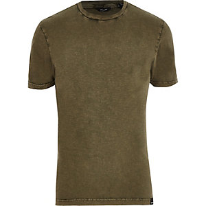 Khaki green short sleeve T-shirt