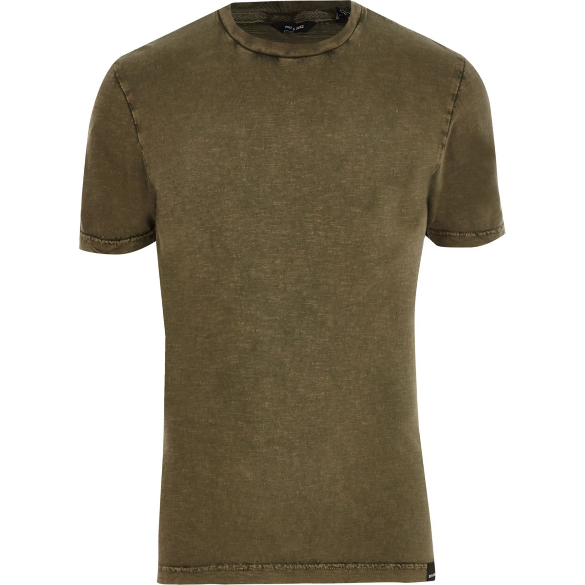 Only & Sons khaki green short sleeve T-shirt