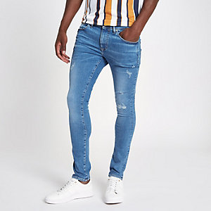 Danny – Blaue Superskinny Fit Jeans