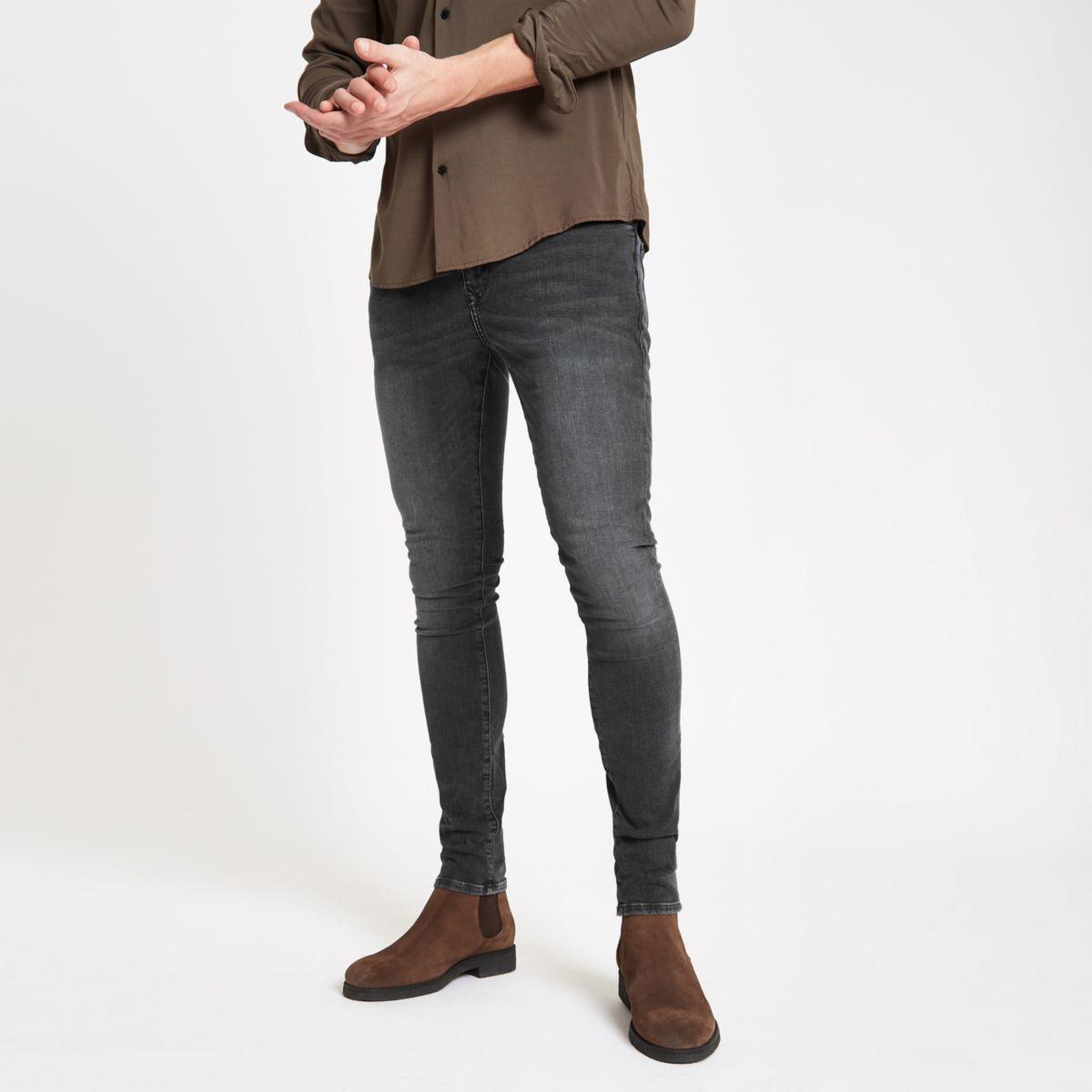 Dark grey super skinny Danny jeans