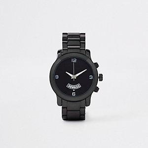 Horloge met metaalgrijze kettingband