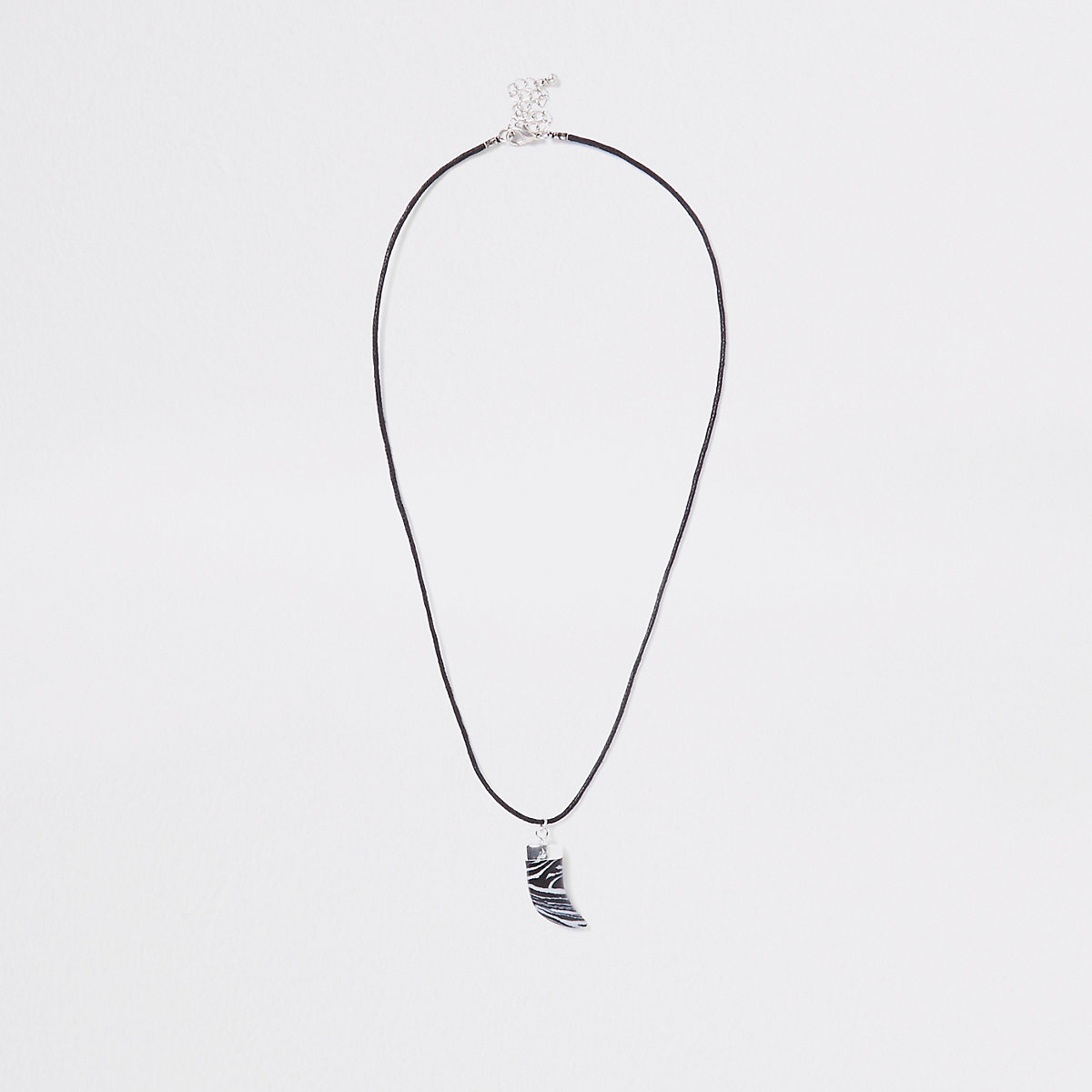 Grey shark tooth necklace