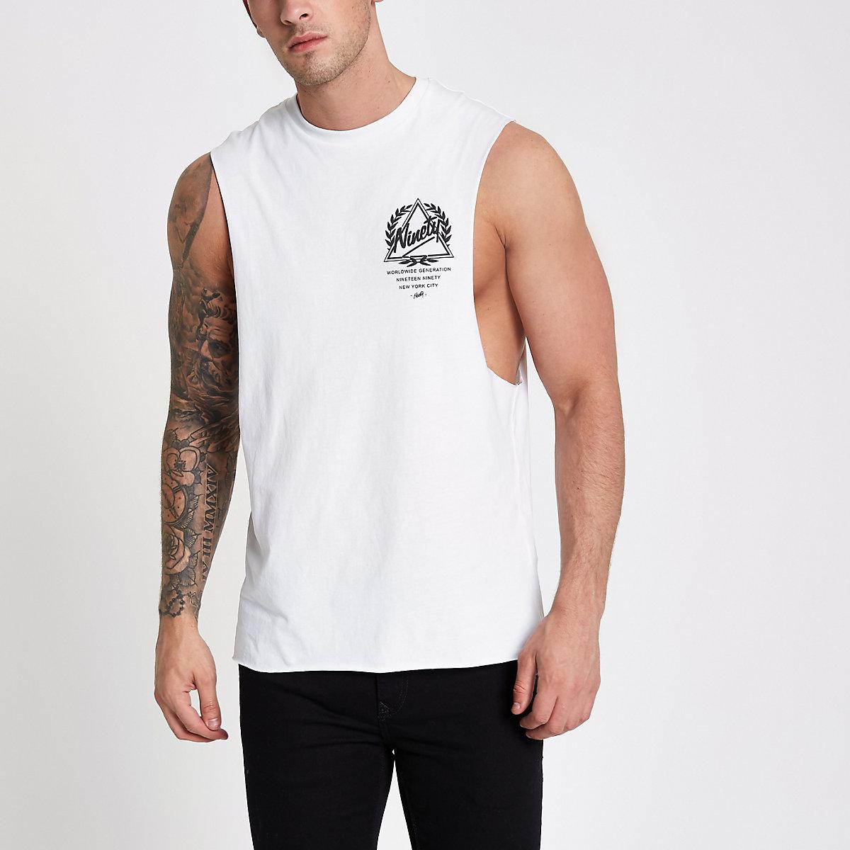White 'ninety' tank vest