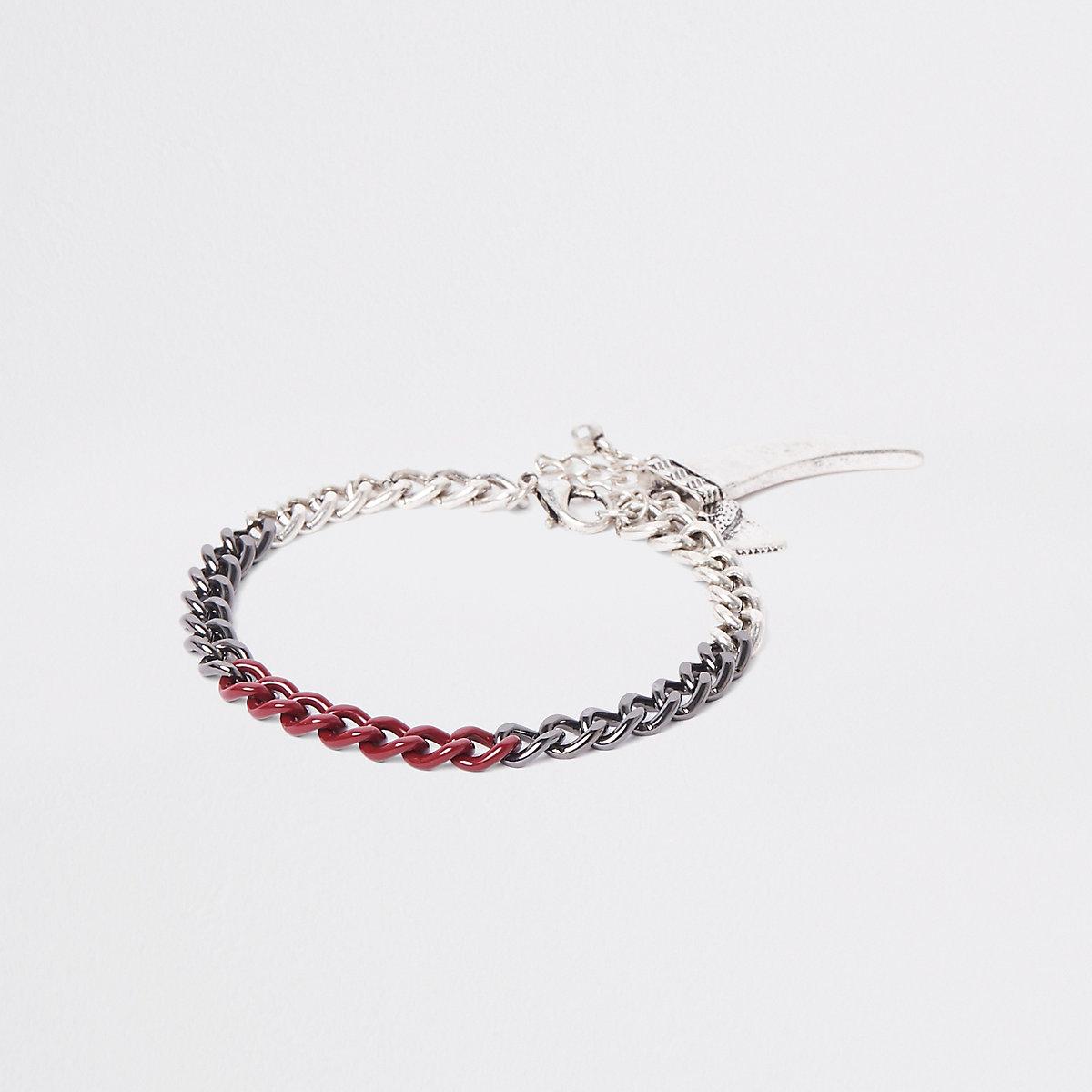 Bracelet chaîne argenté à dent de requin