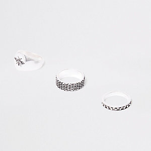 Multipack zilverkleurige ringen met wesp
