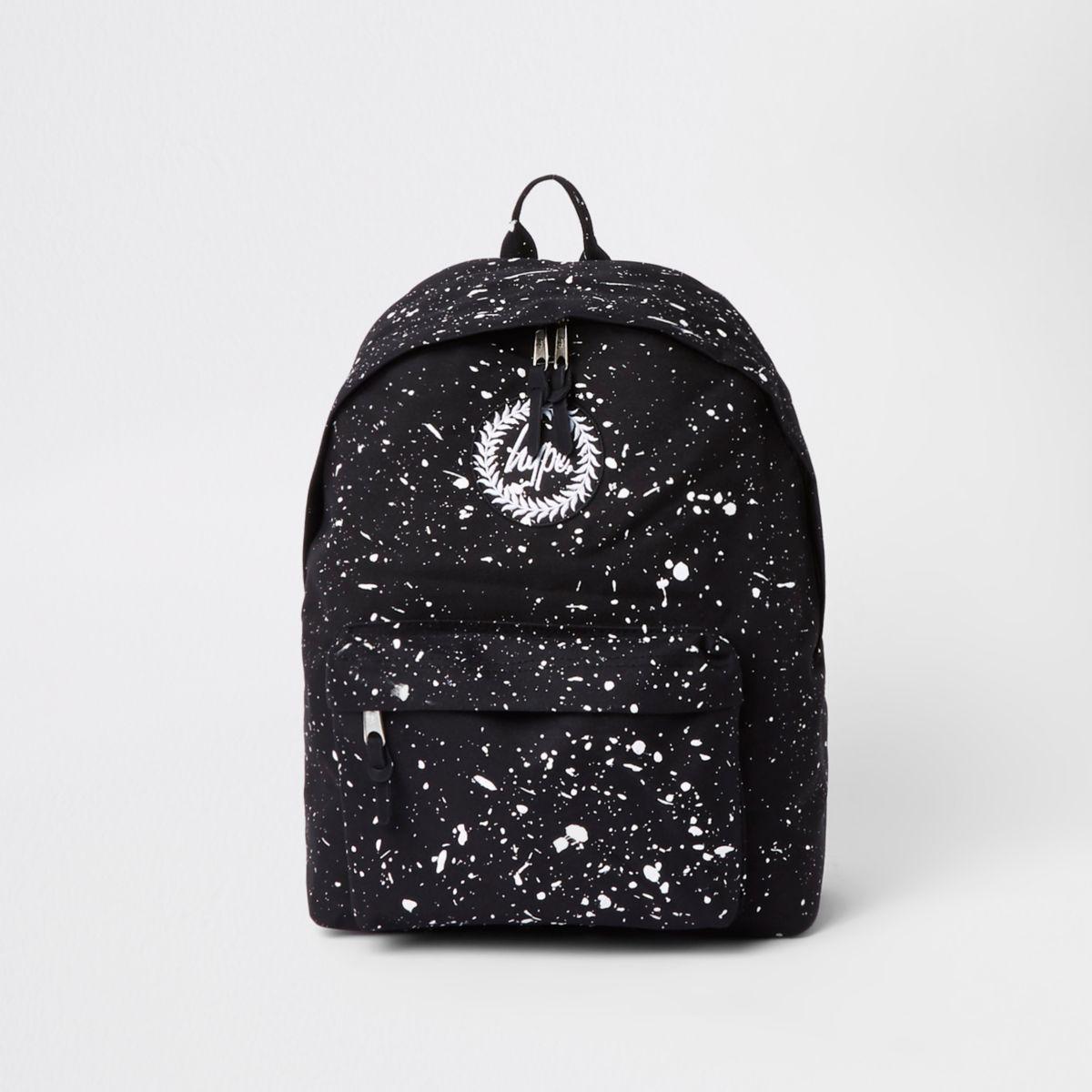 Hype black speckled backpack