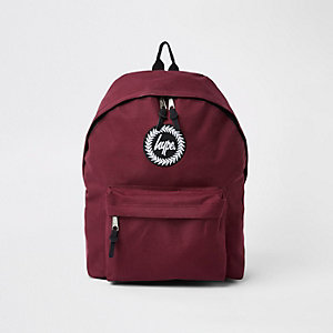 Hype burgundy embroidery backpack