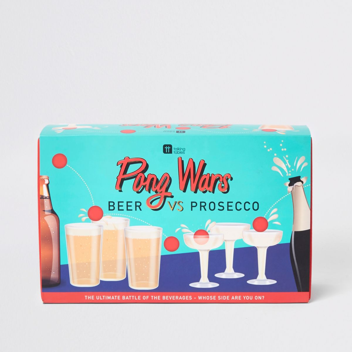 Beer vs prosecco pong game