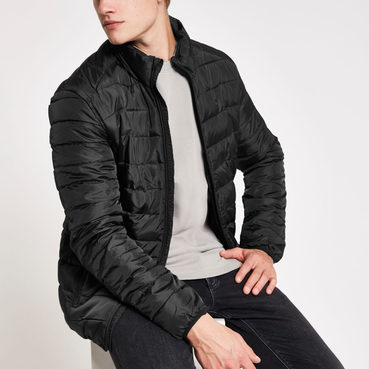 Only & Sons navy puffer jacket