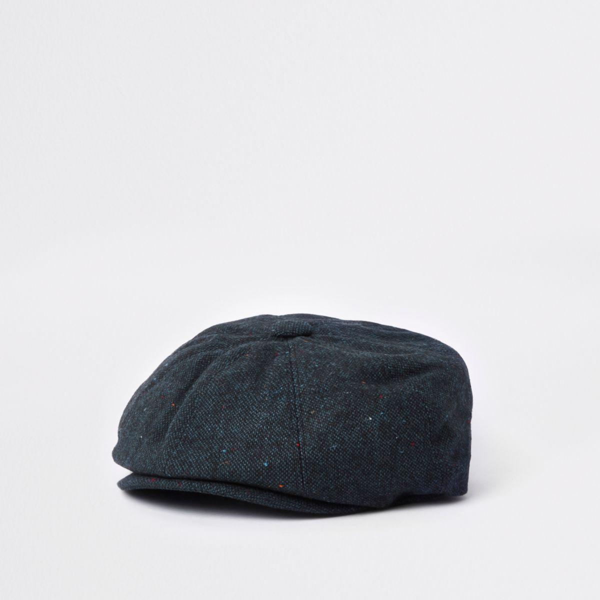 Navy baker boy hat