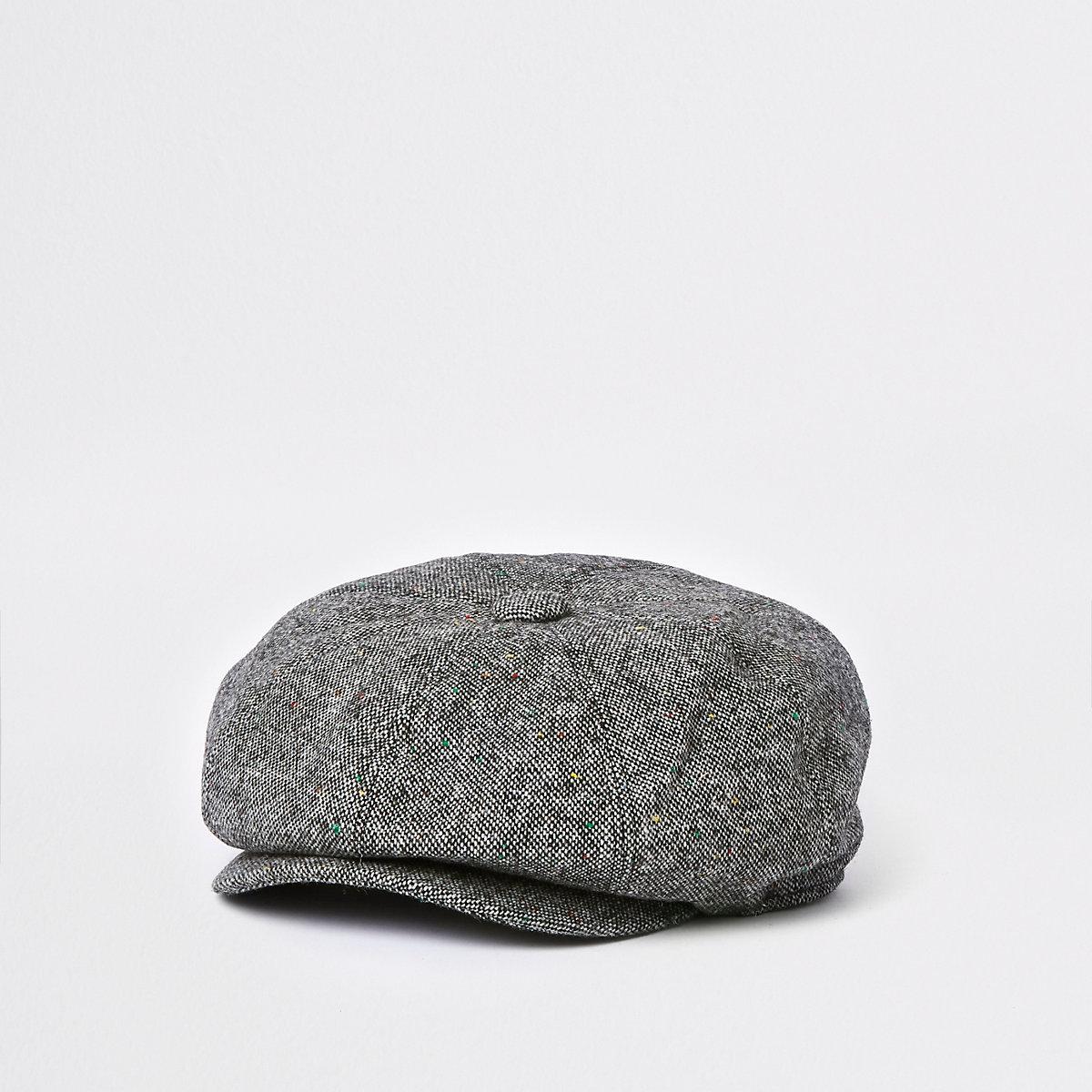 Grey baker boy hat