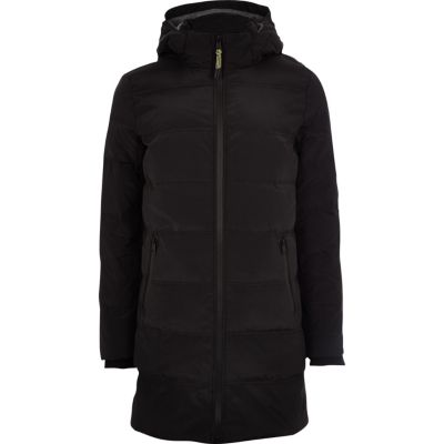 Only & Sons Black Longline Puffer Jacket by River Island