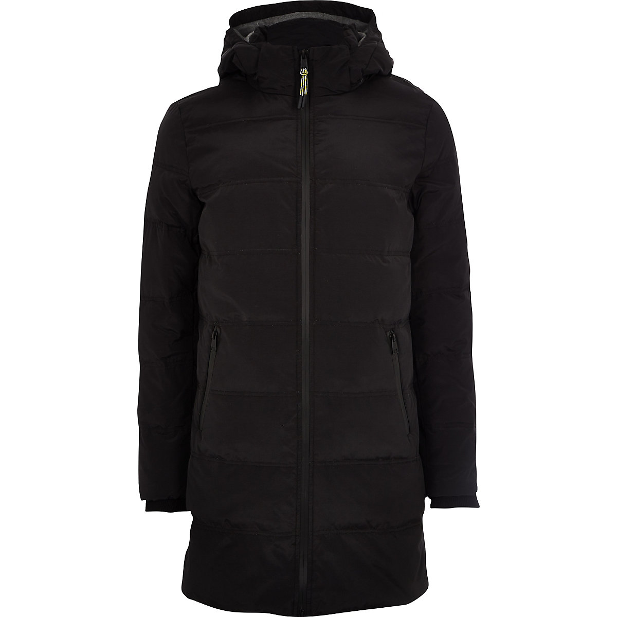 Only & Sons black longline puffer jacket