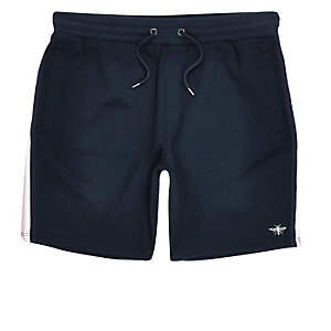 Big and Tall navy tape shorts