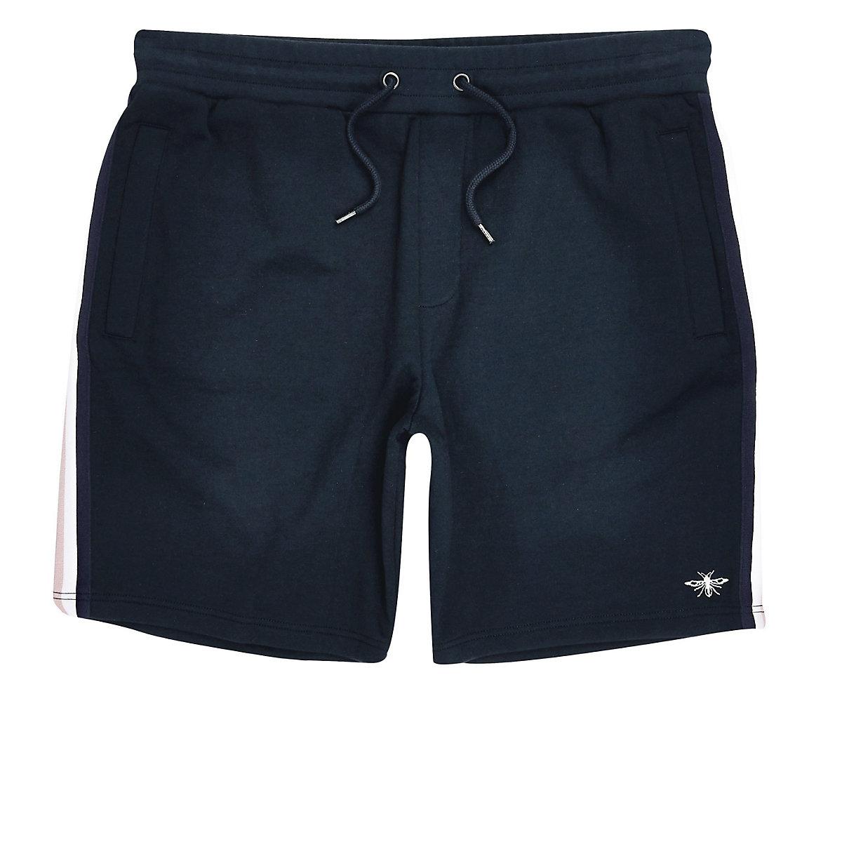 Big and Tall navy tape shorts