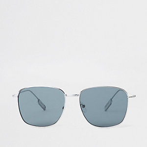 Grey smoke hexagon sunglasses