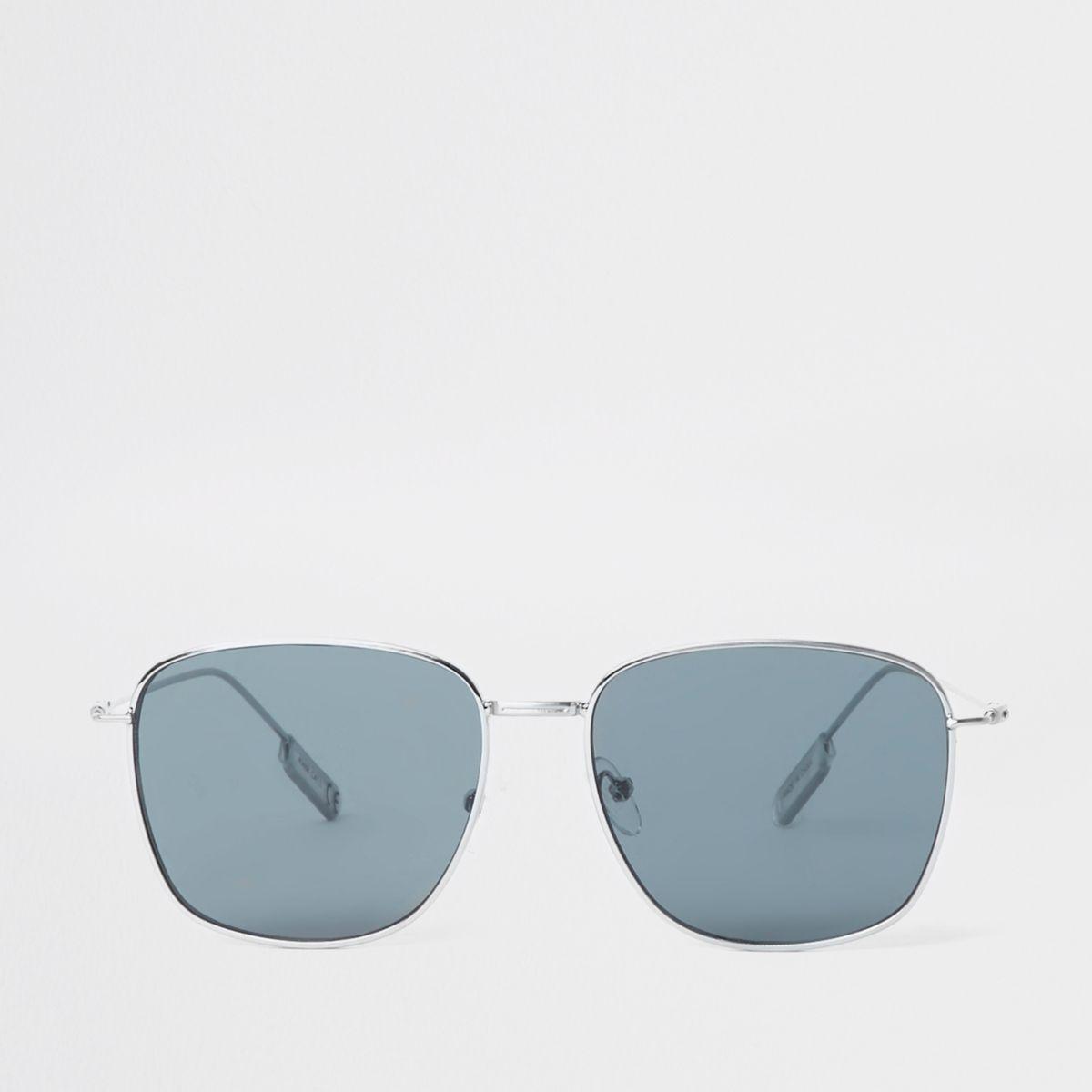 Grey smoke hexagon sunglasses