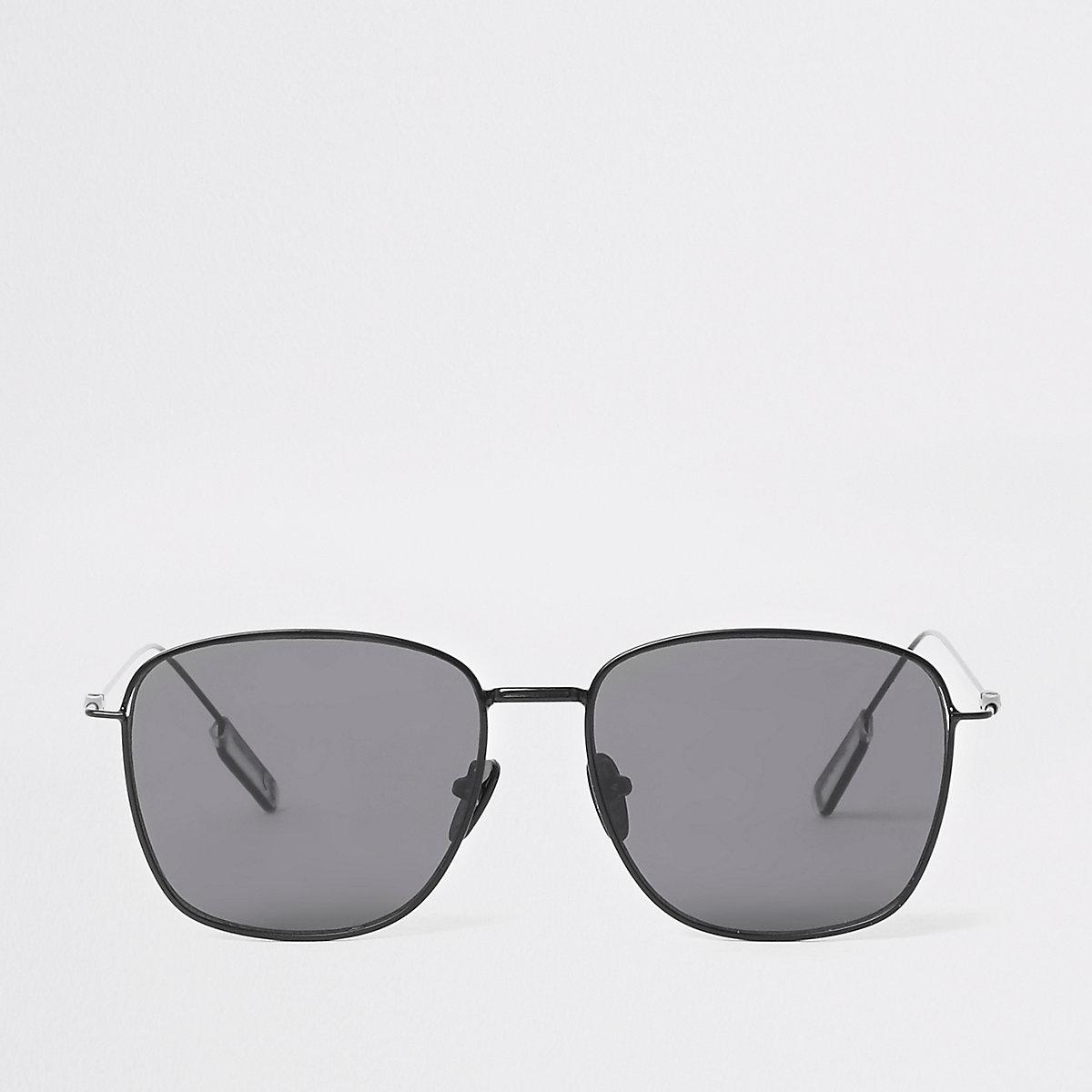 Black hexagon sunglasses