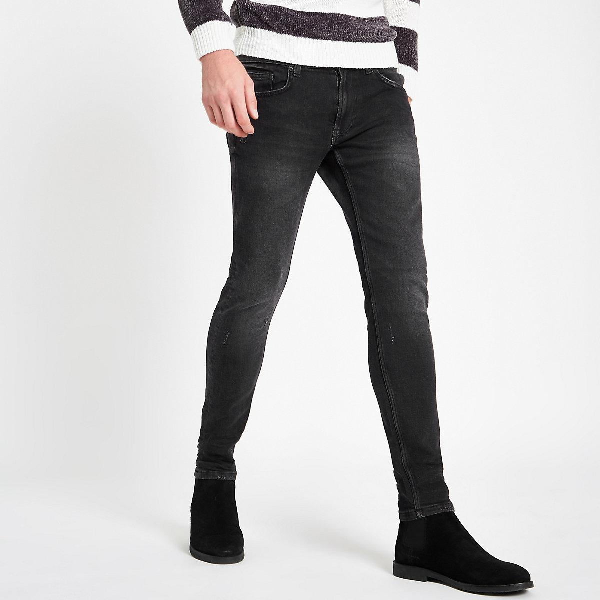 Only & Sons black wash slim fit jeans